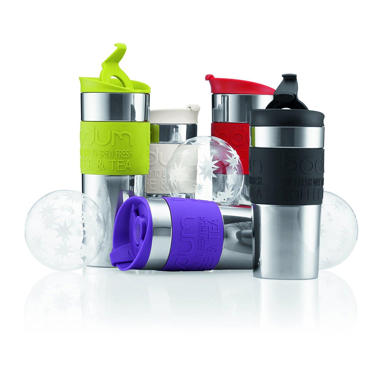 Différents modèles de mugs isothermes de la marque Bodum