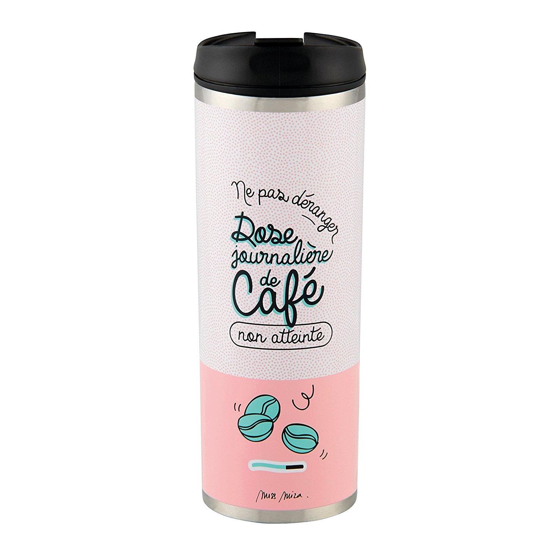 """Mug isotherme DLP """"Dose journalière de café"""""""