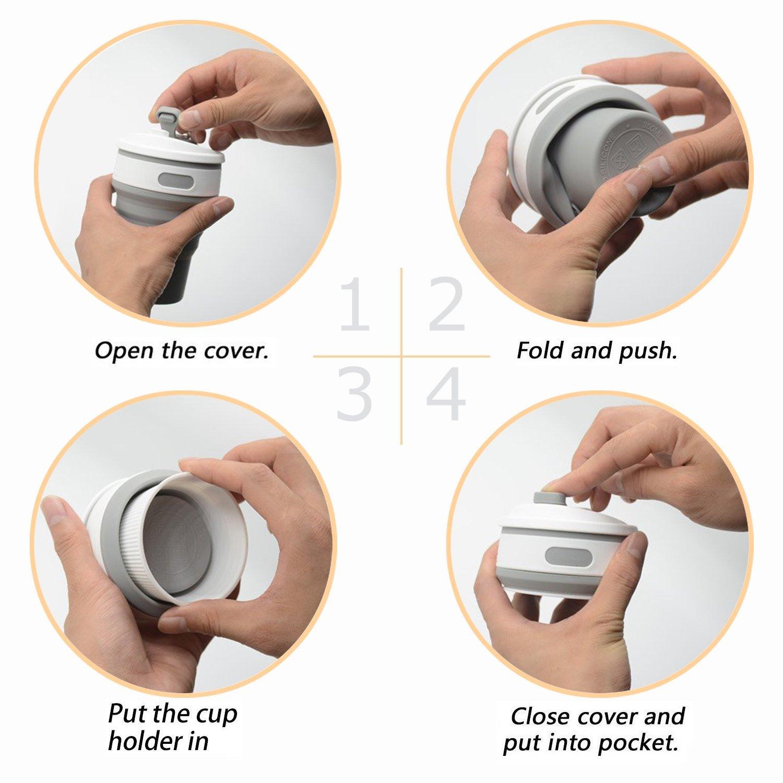 Pliage et rangement du mug isotherme